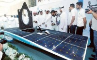 Young engineering students unveil a solar car