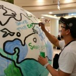 Abu Dhabi shoppers planting and painting at the mall