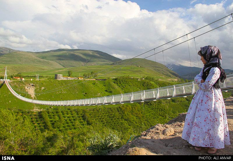 Elan iran builds mideast 39 s highest swing bridge elan for Suspension nature