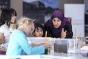 Emirati artist Azza Al Qubaisi's classes draw on sustainability