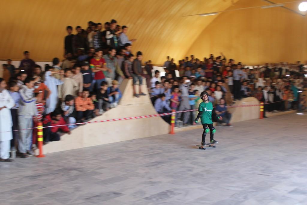 Tamana during skate demo