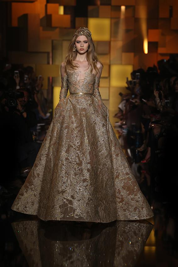 elan | Elie Saab\'s touch of gold in fall/winter show - elan