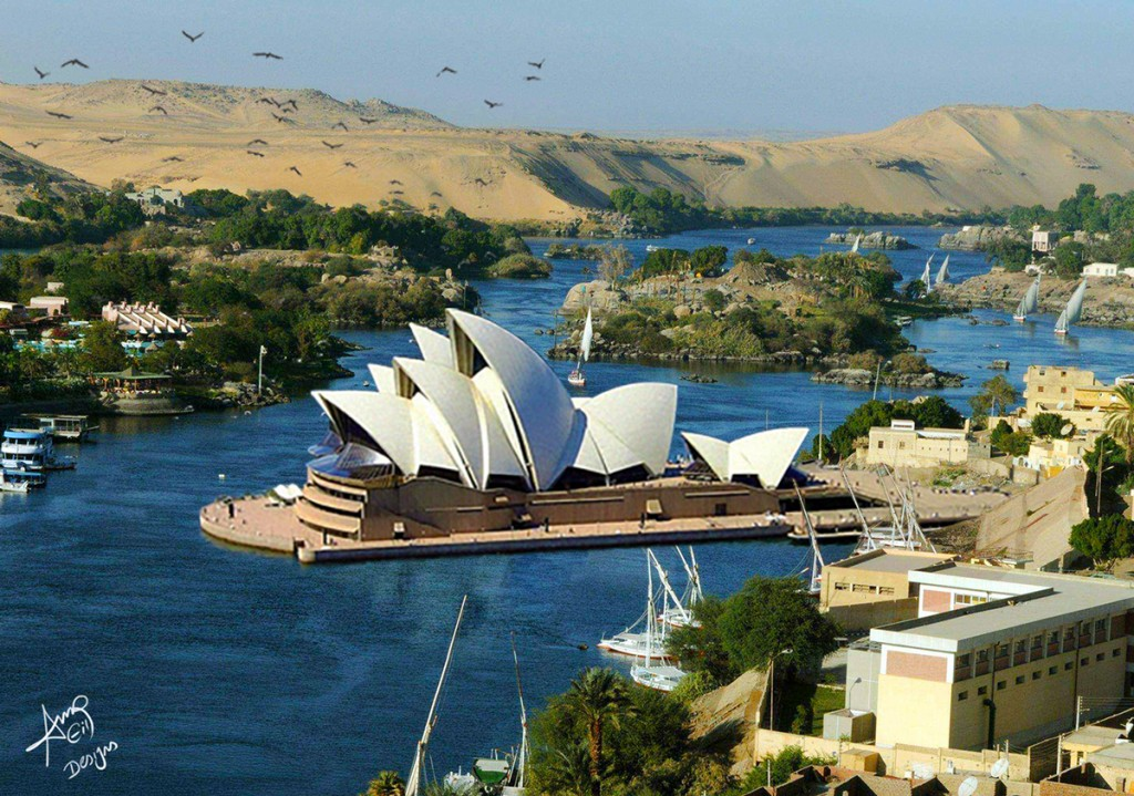The Sydney Opera House in Aswan