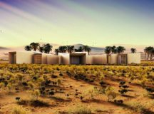 Abu Dhabi's desert eco-retreat uses solar energy and smart technology