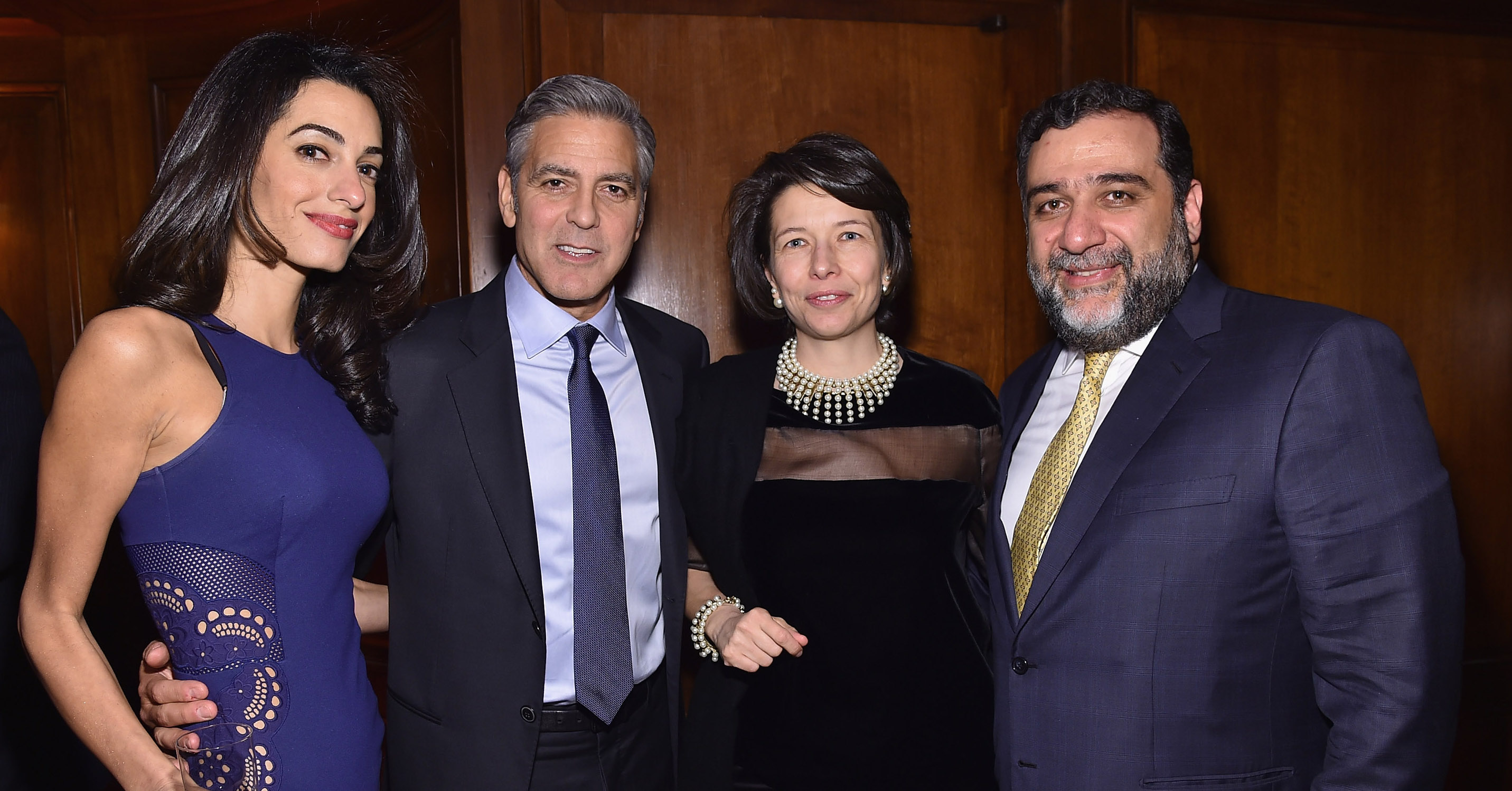 Clooney amal launches scholarship with 100 lives photos