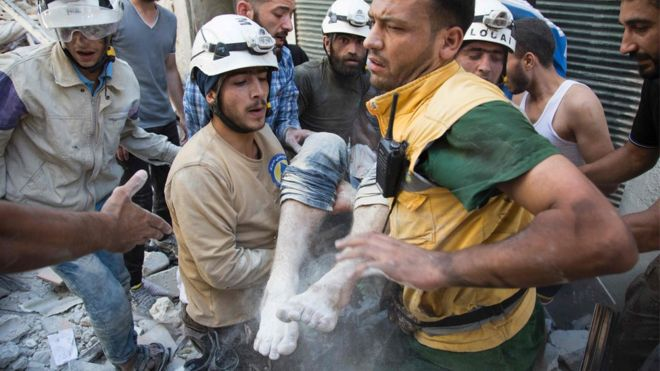 Syria's White Helmets win 'alternative Nobel Prize'