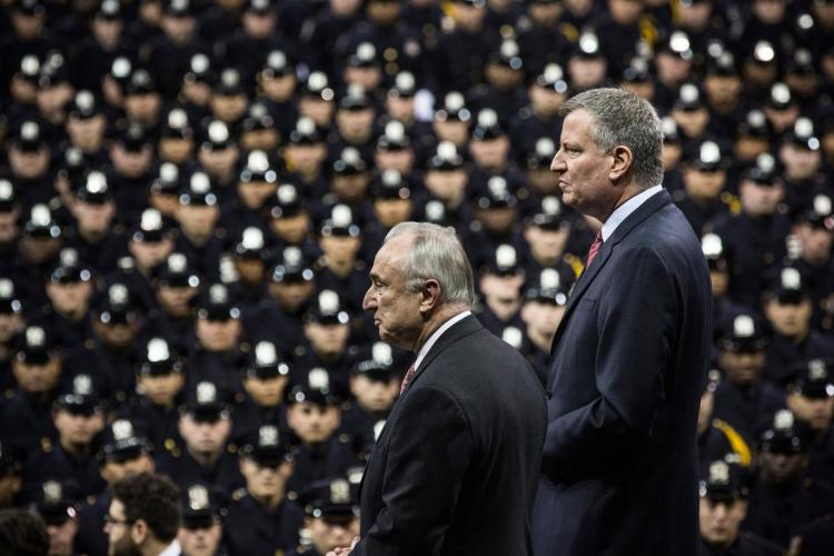 "In meeting with Trump, Bill de Blasio reminds him of the ""900 Muslim members of the NYPD"""
