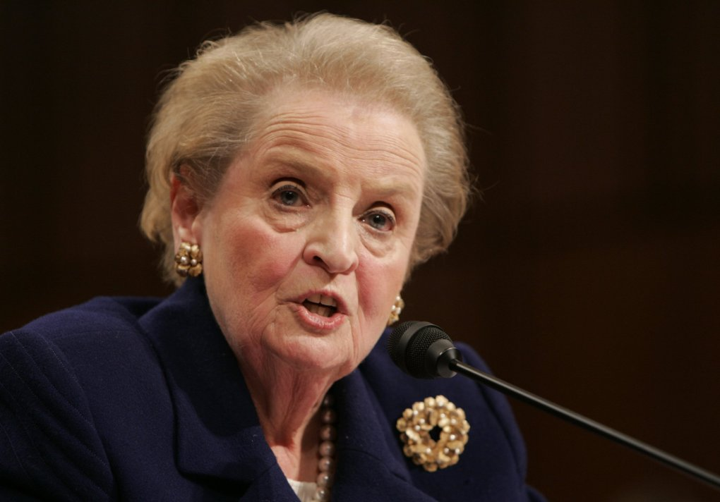 Former Secretary of State Madeleine Albright testifies on Capitol Hill in Washington, Wednesday, Jan. 31, 2007 before the Senate Foreign Relations committee hearing on Iraq. (AP Photo/Susan Walsh) DCSW108