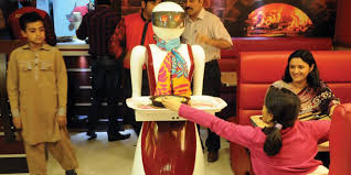 Robot serves food at Multan pizzeria in Pakistan