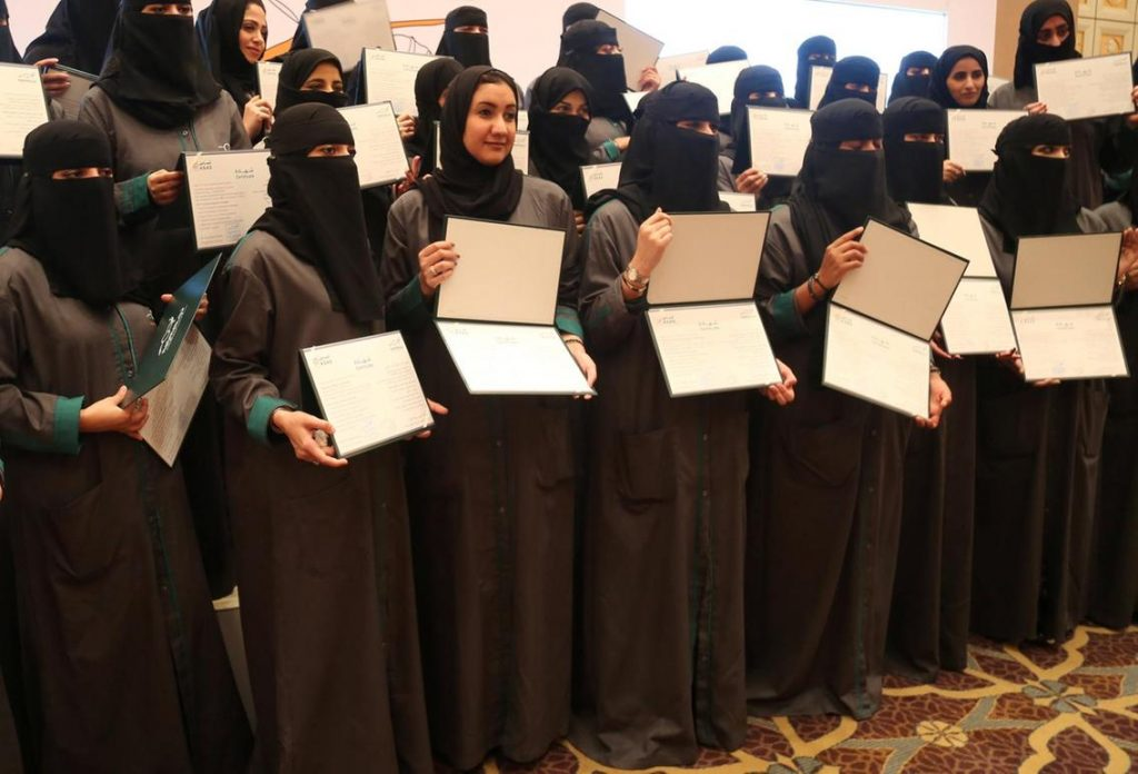 First Saudi female road traffic accident inspectors graduate ahead of lifting of driving ban