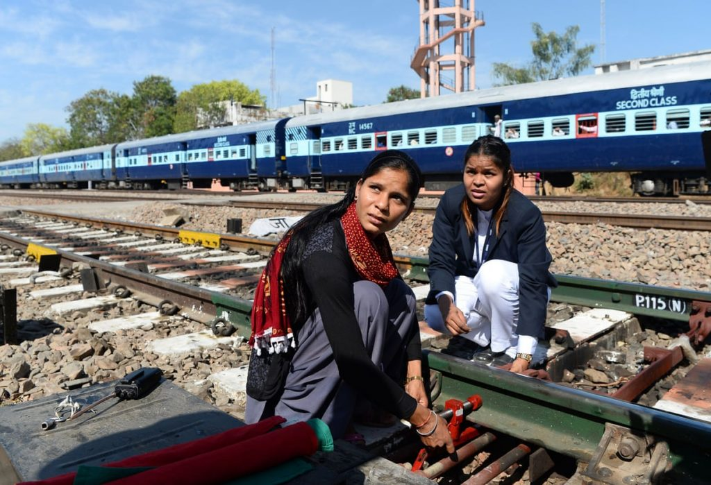 Full steam ahead: India's first women-run train station blazes a trail