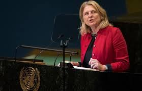 Austrian foreign minister delivers UN speech in Arabic